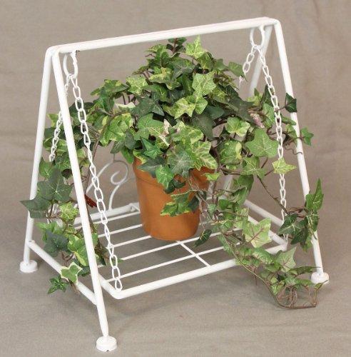 DanDiBo Blumenhocker Schaukel Romance Weiß 2073 Blumenständer 30 cm Puppe Dekoration