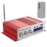 WINGONEER Mini Bluetooth Salut-Fi Stereo Audio AMP Amplificateur Basse Booster MP4 12V soutien FM / MP3 / TF / USB / DVD pour Auto Moto Car Auto CD DVD