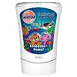 Sagrotan No-Touch Kids Nachfüller Entdeckerpower Aloe Vera – Für den automatischen Seifenspender – 5 x 250 ml Handseife im praktischen Vorteilspack