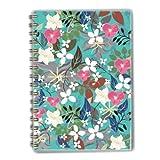 A5Spiralbindung Notebook türkis Blumen