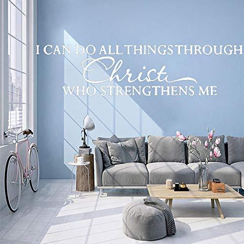 Kreative Abnehmbare Für Wohnzimmer Schlafzimmer Wandtattoos Tapete Kunst weiß 57 cm X 14 cm ()