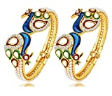 #3: YouBella Jewellery Traditional Gold Plated Bracelet Bangle Set For Girls and Women