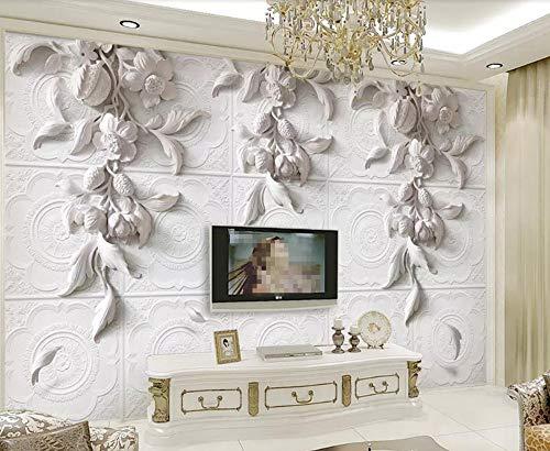 Fototapete 3D Effekt Tapeten Relief Aus Gips Geschnitzt Wandtapete Wandbild Wand Dekoration -