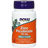 Zinc picolinate 50 mg - 60 gelules - Now foods