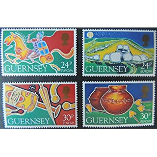 GUERNSEY 1994 EUROPA ARCHAEOLOGICAL DISCOVERIES SET OF 4 VALUES MNH SG634-637 ARTEFACTS CELTIC WEAPONS JandRStamps