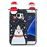 Forhouse Phone Hülle für Samsung Galaxy S7 Hülle Backcover Protective Shell Back Bumper Cover [ Snowman ]