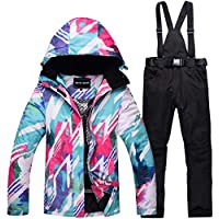 Amabubble Frauen Schneeanzug Winter Ski Jacke und Hose Set für Regen Schnee Outdoor Wandern