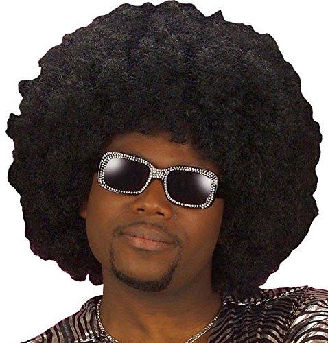 Schwarze Jumbo Afro Perücke - Widmann J0944 - Afro Perücke für