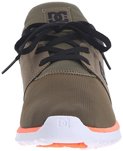 DC Heathrow Skate Shoe, Black/Grey/Green, 14 M US Olive