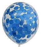 6x 30,5cm blu pre riempito coriandoli palloncini decorazione della festa nuziale