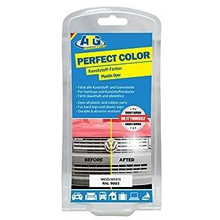 ATG Kunststoff-Färber Perfect-Color weiss verleiht Stoßstangen, Zierleisten neues Leben und bringt den Glanz zurück – funktioniert bei jedem Auto - Motorrad - Caravan, ATG037