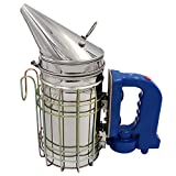 livestocktool.com Electric Bee Hive Smoker for Beekeeper Stainless Steel with Heat Shield Beekeeping Equipment