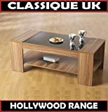 Hollywood Coffee Table Black High Gloss / Walnut