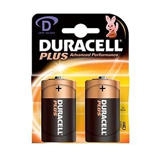 Duracell Batterie Plus Mono D 1,5V im 2er Pack