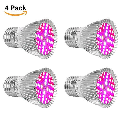 4 Stück 20W E27 LED Pflanzenleuchte volle Spektrum-Glühlampe für Innenanlagen Veg Blume