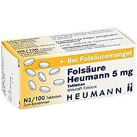 Folsäure Heumann 5 mg Tabletten, 100 St preisvergleich bei billige-tabletten.eu