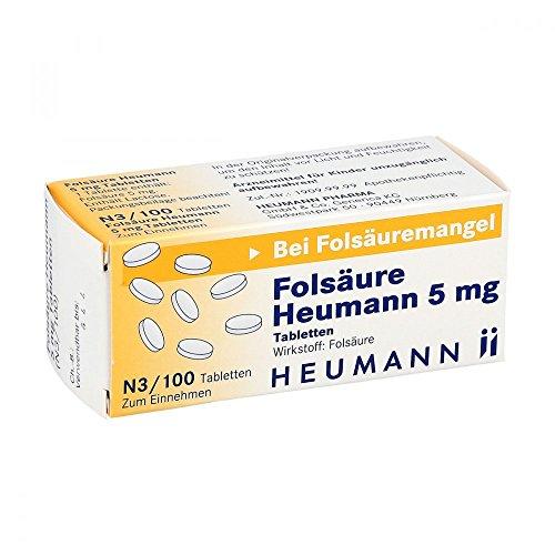 FOLSÄURE HEUMANN 5 mg Tabletten 100 St Tabletten