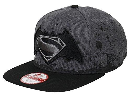 New Era Dc Comics Batman Vs Superman 9fifty Snapback Splatter Hat Grey/Black - S-M