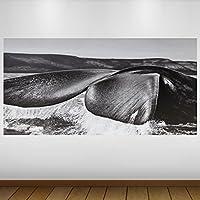 EXTRA GRANDE Cola de ballena gris de vinilo de Vida Silvestre Póster - Mural Decoración - etiqueta de la pared -140cm x 70cm