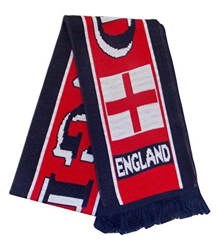 Fútbol de Inglaterra Bufanda Azul Marino y Rojo