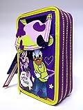Trousse 3zip Daisy Daisy violet stylos complet école New offre