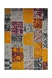 Teppich Wohnzimmer Carpet Patschwork Design Solitaire 310 Rug Muster Baumwolle 120x170 cm Mehrfarbig/Teppiche günstig online kaufen
