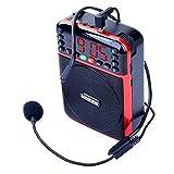 Longruner Rechargeable Voice Amplifier Portable Waistband Microphone Loud Speaker for Teacher, Coach, Tour