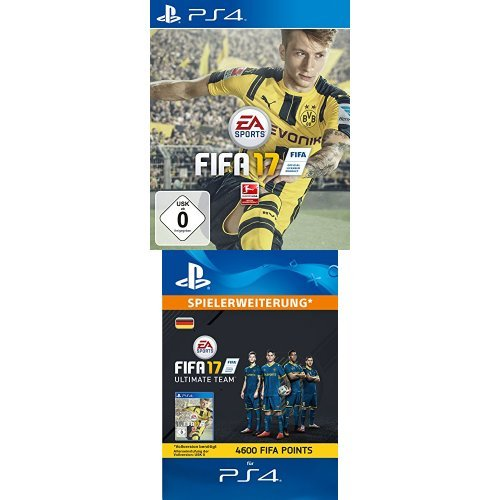 FIFA 17 - [PlayStation 4] + FIFA 17 Ultimate Team - 4600 FIFA Points [PlayStation Network Code - deutsches Konto]