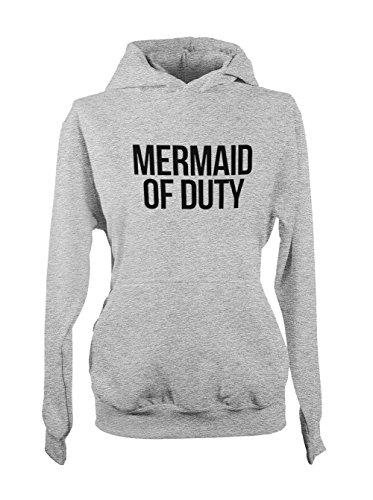 Mermaid Of Duty Femme Capuche Sweatshirt Gris