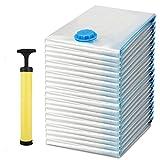 BATHWA 20 Set Vakuumbeutel Aufbewahrungsbeutel Kleiderbeutel Vakuum-Platzsparer für Betten und