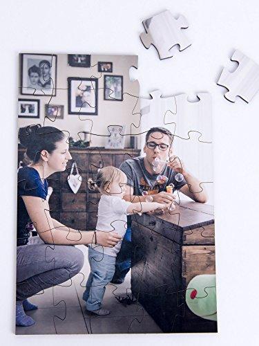 Hochwertiges Holzpuzzle mit ihrem Foto oder Motiv,