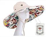 Sombrero de Sol Extraíble Con Borde Grande...