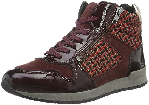 Marc Shoes Raven, Baskets Basses Femme, Rot (Bordo-Combi 00156)