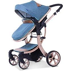 Hot Mom Multi Cochecito Cochecito 2 en 1 con Buggy 2019 Nuevo diseño, Zafiro 85x63x112cm