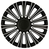 Best Hubcaps - AutoStyle LEMANS PRO black/white 14 Hubcap Set Lemans Review
