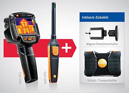 térmica de cámara Testo 872y higrómetro Testo 605i térmica de cámara de Juego con módulo de radio Bluetooth/WiFi, incluye maletín, kleinsc hmidt GmbH magnético de soporte para smartphone