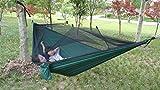 Outdoor Camping Hängematte Mit Moskitonetz Ultralight Parachute Hängematte 2 Personen Garten Hängebett Freizeit Strand Zelt