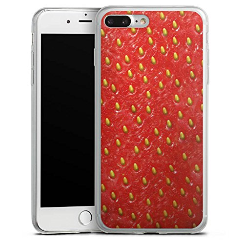 Apple iPhone X Slim Case Silikon Hülle Schutzhülle Erdbeere Strawberry Sommer Silikon Slim Case transparent