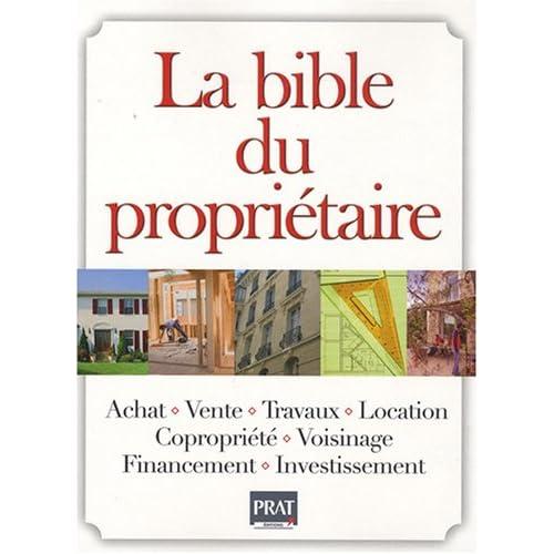 La bible du propriétaire