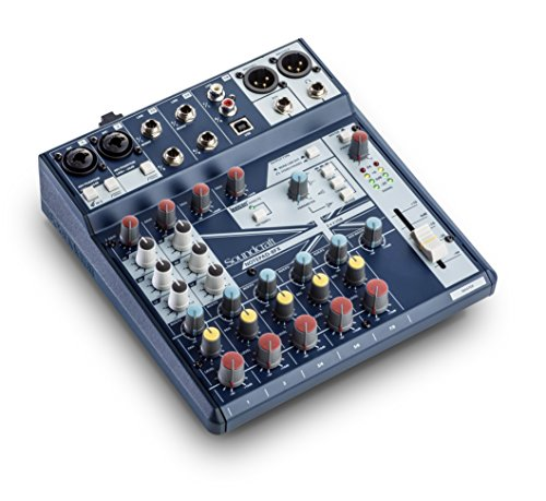 Soundcraft Small-Format Analog Mixer with USB I/O, Lexicon Effects (Notepad 8FX)