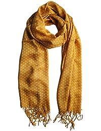 Mustard Polka Dot Spot Scarf Ladies Fashion Spot Scarves