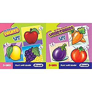 Frank  Fruits Puzzle for 3 Year Old Kids and Above & Frank  Vegetables Puzzle for 3 Year Old Kids and Above