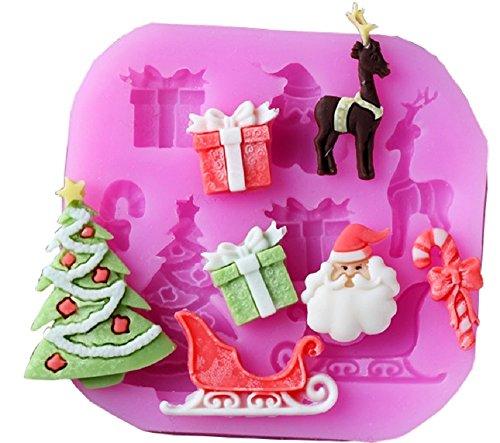 Inception pro infinite stampo in silicone per uso artigianale di accessori natalizi - babbo natale - pacco regalo - albero di natale - slitta - caramella