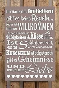Amazon.de: XL Deko Schild 40x60 cm IM HAUS DER GROSSELTERN