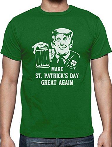 Trump - Make St. Patrick's Day Great Again T-Shirt Medium (Beste Tag Shirts St Patricks)