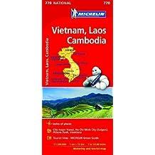 Map Vietnam Laos Cambodia Michelin