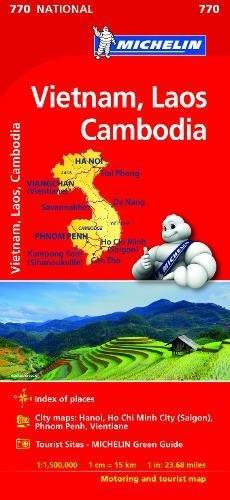 Mapa National VIETNAM, LAOS, CAMBODGE (Mapas National Michelin)