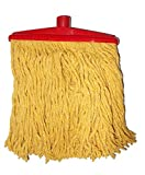 Kotak Sales Multipurpose Cotton Mop Changeable Clip & Fit Head , Size 28Cm Long Head, Yellow