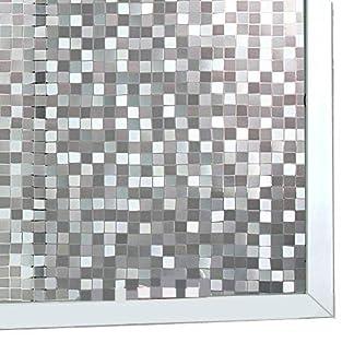 LIfe Tree Película Pegatina Electroestática de Vinilo PVC para Privacidad de Ventanas y Cristal Textura Translúcida En Forma de Gresite