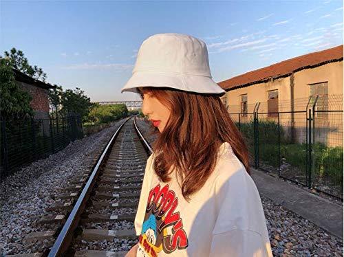 Imagen de sombrero de pescador unisex diseño liso sombrero de pescador de material cómodo los colores en blanco y negro son todos casquillos disponibles para usar con ropa casual sombrero adumbral sombreado al alternativa